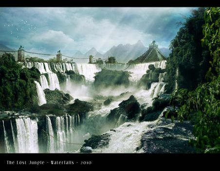 The Lost Jungle - Waterfalls by Olivier-Ventura