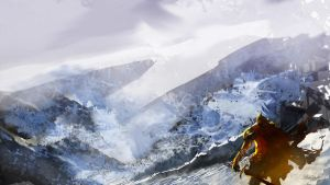 A knights cold journey by Brollonks