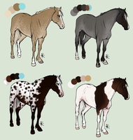 Horse Designs -closed- by fursonaloverXD