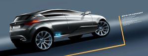 BMW X6 rear view by husseindesign