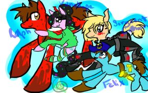 Wreck-It Ralph: Main Cast MLP Style by SilverSkittlez