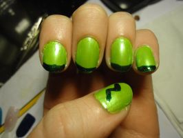 Lampo Inspired Nail Art--Left by pockyXbandit