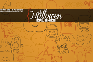 Cute Halloween brushes by DirectionerHere