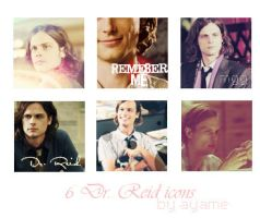 6 Spencer Reid icons by xtinnadark