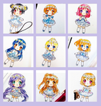 LOVE LIVE IDOL CHARMS by naomiyui