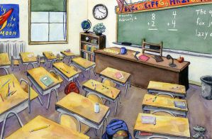 Classroom by Luthienshadows
