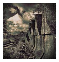 Holga Ghost :stone and sign: by DrCaligari