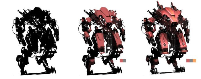 mecha sketch by BenedictWallace