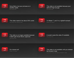 New YouTube Error Messages by olivaaa