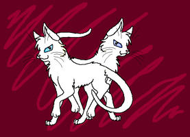 Two Cats Lineart by TheTheifLord