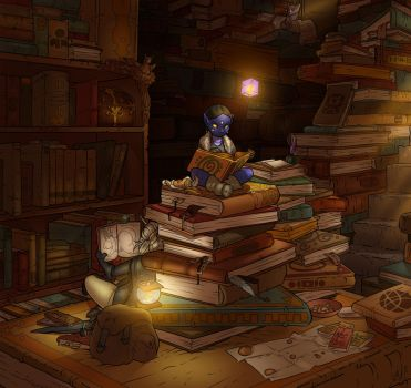 Art Collab- Magical Research by Lilly-moo