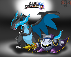 Book of Smash ( Meta Knight and Mega Charizard X ) by ColorDrake