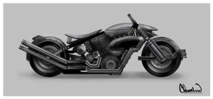 Hero Motorcycle by calebcleveland