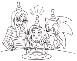 Commission - Birthday Girl by SonicRocksMySocks