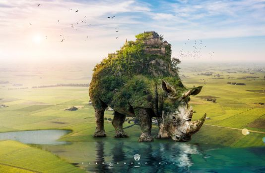 Tutorial Create a Surreal  Rhino by 35-Elissandro