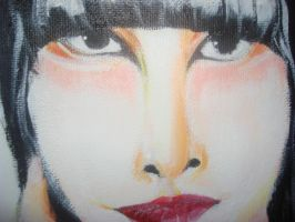 Karen O painting Closeup by jisellekamppila