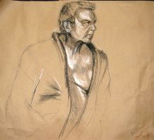 life drawing - 3 by Meliss