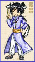 sirius in chinese clothes by LittleDogStar