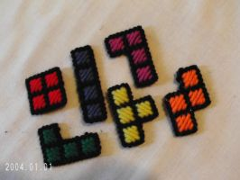 Tetris Block Magnets by agorby00