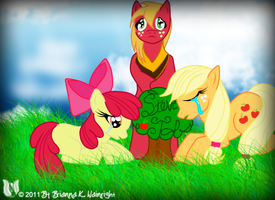 Apple Family RIP Steve by DracosDerpyHoof