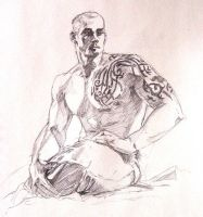 Study of Figure with Tattoos by the-finite
