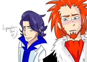 Sycamore x Lysandre by OnePiece193