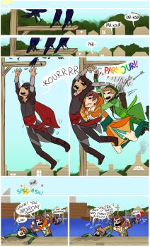 Achievement Hunter Assassins: Parkour by AlmostMyself