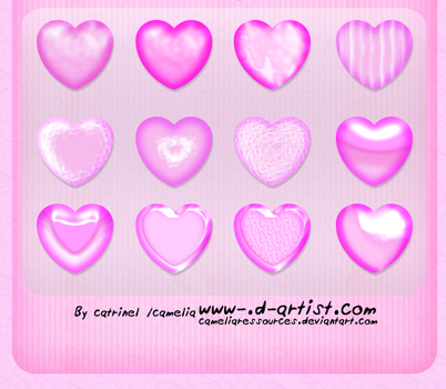 Pink photoshop layer styles 5 by cameliaRessources