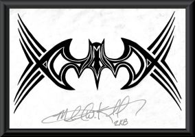 Batman Tribal by MichaelWKellarINKS