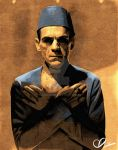 Boris Karloff The Mummy by Adzee