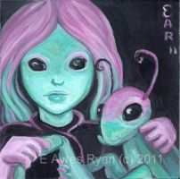 A Fairy and her Praying Mantis by E-Ayres-Ryan
