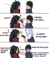 I got your nose, Madara - Obito n Madara by UchihaClanRock