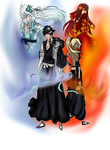 BLEACH OC- Fire and Ice by DarkLordLuzifer