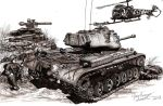 The Forgotten War M47 Patton by shank117
