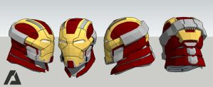 Mark 17 Helmet - Iron Man by AZTLANN