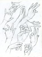 Hand Sketches by ArsonAnthemKJ