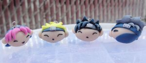 Naruto Team 7 Charm Set by jadelushdesigns