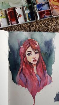 Amarisse watercolor by taho