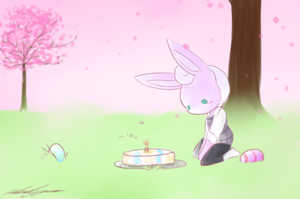 PKMNC Happy Birthday Lil Easter Bunny by TheLonelyQueen