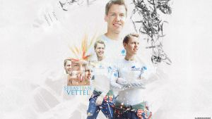 Sebastian Vettel Wallpaper by glamorousdesigns