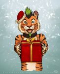 Present from a tiger by TaruHanako