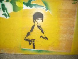 stencil Bruce Lee by kamui08