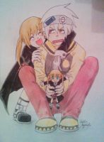 Soul and Maka 4 by Killjoy-Chidori
