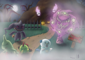 Ghostly Halloween by PokeGirl5