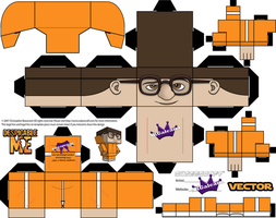 Despicable Me Vector Cubeecraft template by SKGaleana
