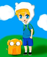 Finn and Jake Colored by OMGisRaisa