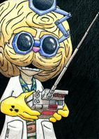 Heimerdinger Sketch Card by geardrafter