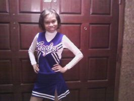 Me in my cheerleading outfit by Kitty-Kat-Fairy