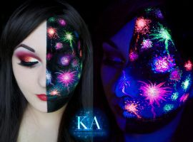 Black Light Fireworks by KatieAlves