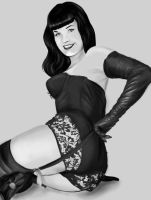 Bettie Page WIP by screamin2u